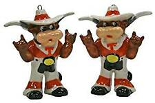 Texas Longhorns 2-Piece Porcelain Figure Ornament Set
