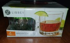 Libbey Brockton 10.6 Oz Rocks Glasses Set Of 4 - NIB!!