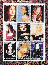 Kyrgyzstan 2000 MNH Madonna 9v M/S Popstars Music Celebrities Stamps