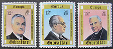 GIBRALTAR 1980: CELEBRITIES: SET OF 3 MNH STAMPS