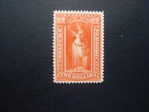 1897 US S#PR120 $2 scarlet, soft paper, wmk. Mint NG F+