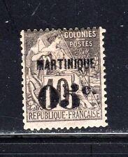 Item No. T30312 – Martinique - Scott # 12 - MH