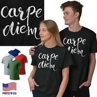 Carpe Diem Seize The Day Inspirational Gift Womens Short Sleeve Crewneck Tee