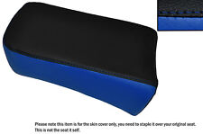 BLACK & ROYAL BLUE CUSTOM FITS SUZUKI LS 650 SAVAGE REAR LEATHER SEAT COVER