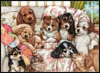 Puppies - Chart Counted Cross Stitch Pattern Needlework Xstitch DIY craft
