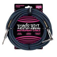 Ernie Ball p06060 tissé Guitare Câble de l'instrument jack câble bleu 7.6m