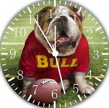 Cute Funny English Bull Dog Borderless Wall Clock for Home Office Wall Decor F03