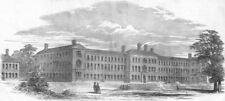SURREY. North Industrial Schools, antique print, 1850