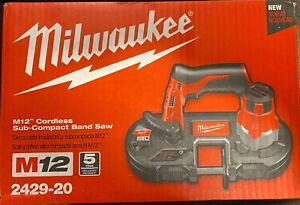 Milwaukee 2429-20 M12 Cordless Sub-Compact Band Saw (Tool Only) New FREE SHIP