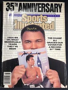 Muhammad Ali Signed Sports Illustrated Magazine 35th Anniversary 2 Sigs JSA COA