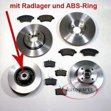 Peugeot 207 - Bremsscheiben mit Abs Ringe Radlager Bremsbeläge für vorne hinten*
