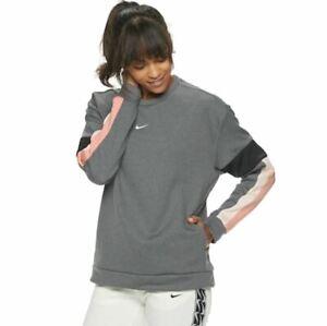 NWT Women's Nike Therma Long-Sleeve Training Top Sweatshirt  Black Pink Quartz