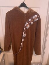 Star Wars Chewbacca Union Suit Hoodie One Piece Costume Pajama Adult Size Medium