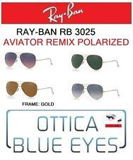 Occhiali da Sole RAYBAN AVIATOR RB 3025 Ray Ban REMIX POLARIZED GOLD sunglasses