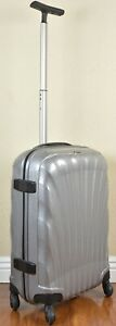 """Samsonite Cosmolite 20"""" SILVER Carry on Spinner Luggage 4-wheeled 60530-1776"""