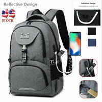 Men Women USB Port Business Backpack Travel Laptop Notebook Bag Satchel Rucksac