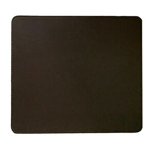 Brown PU Synthetic Leather Mouse Mat Pad for Office Business PC Computer Laptop