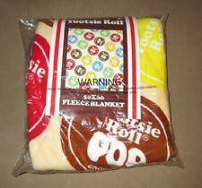 New Nip Plush Tootsie Roll Pop Fleece Throw Gift Blanket Candy Lollipop Sucker