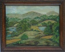 L. Hare (19th c.) Post-Impressionist Landscape Oil Painting w/Victorian Frame