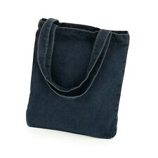 Lightweight Denim Canvas Tote Bag Shopper Shoulder Bag Festival Beach Light Dark