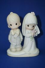 Precious Moments May The Lord Bless You And Keep You figurine cake topper Bride
