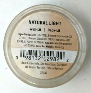 New Bare Escentuals BareMinerals Natural Light Well-Lit Back-Lit .06 oz BB21