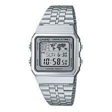 Casio A500WA-7 Vintage Classic Silver-Black Digital Watch Retail Box Included