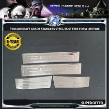 FITS TO KIA SPORTAGE CHROME LOGO DOOR SILL COVERS 5yr GUARANTEE 2010-2014 OFFER