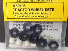 HO 1/87 A-Line # 50105 2-Hole Tractor Wheel Set - 2F/4R