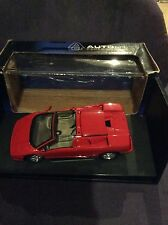 "1/18 AUTOART LAMBORGHINI DIABLO ROADSTER ""RED"" NO BBR (Damage)"