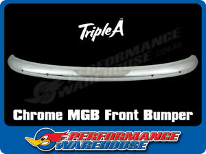 MGB MG CHROME FRONT BUMPER BAR ONE PIECE BRAND NEW