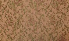 WAVERLY LYDIA SALMON PINK JACQUARD FLORAL FURNITURE WOVEN FABRIC BY THE YARD