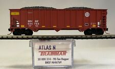 N scale Atlas 50 000 314 / 90 Ton Hopper BNSF #646769 with Micro-Trains trucks