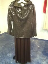 Vintage Kasper for Joan Leslie Palazzo Pants Jumpsuit, Sequin and Sheer Tops Bro
