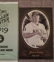 2019 TOPPS Allen & Ginter Mike Trout BOX LOADER BOX TOPPER Cabinet Card Jumbo