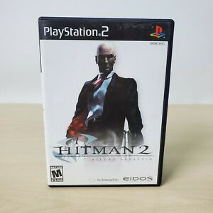 Hitman 2 Silent Assassin - Sony PS2 PlayStation 2 Game With Case Tested Working