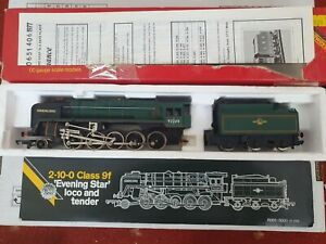 HORNBY 2 10 0 9f EVENING STAR LOCOMOTIVE AND TENDER