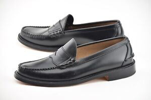 NEW | OAK STREET BOOTMAKERS 10D BLACK ESPRESSO BEEFROLL LOAFER DRESS SHOES