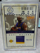 2004-05 Fleer Authentix Platinum Karl Malone 2-Color Jersey Patch Authentix /25