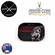 V SYNDICATE METAL ROLLING TRAY LION - 18cm x 14cm - METAL TOBACCO ROLLING PAPERS