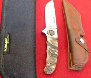 D'Holder custom (Schrade) USA mint Proto Ram's Horn integral fixed blade knife