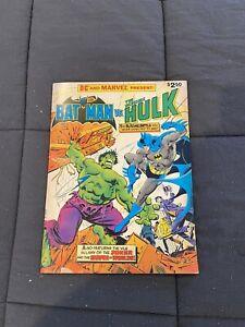 DC And Marvel Present Batman Vs The Incredible Hulk 1981 Treasury Edition