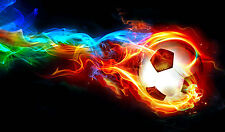 "Poster 24"" x 36"" Hot Soccer Ball"