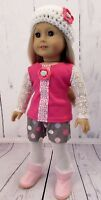 """5 Pc Outfit - Shorts, Tights, Top, Tights & Hat Fits American Girl or 18"""" Dolls"""