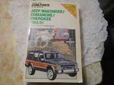 Chiltons Repair Manual, Jeep Wagoneer, Comanche, Cherokee,1984-1991