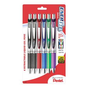 Pentel EnerGel RTX Liquid Gel 0.7 Pen 6/pk