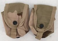 US Military New Lot of 2 MOLLE II Hand Grenade Pouch DCU Tricolor Army Surplus