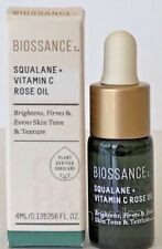 BIOSSANCE Squalane + Vitamin C ROSE OIL 4mL Travel size New in Box Ships Free