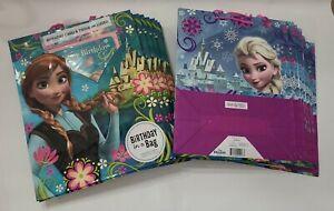 Lot of 20 Hallmark Disney Frozen Gift Bags card & tissue Elsa Anna Wholesale