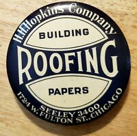 1920-30s Celluloid Adv. Hopkins building Roofing Papers Chicago